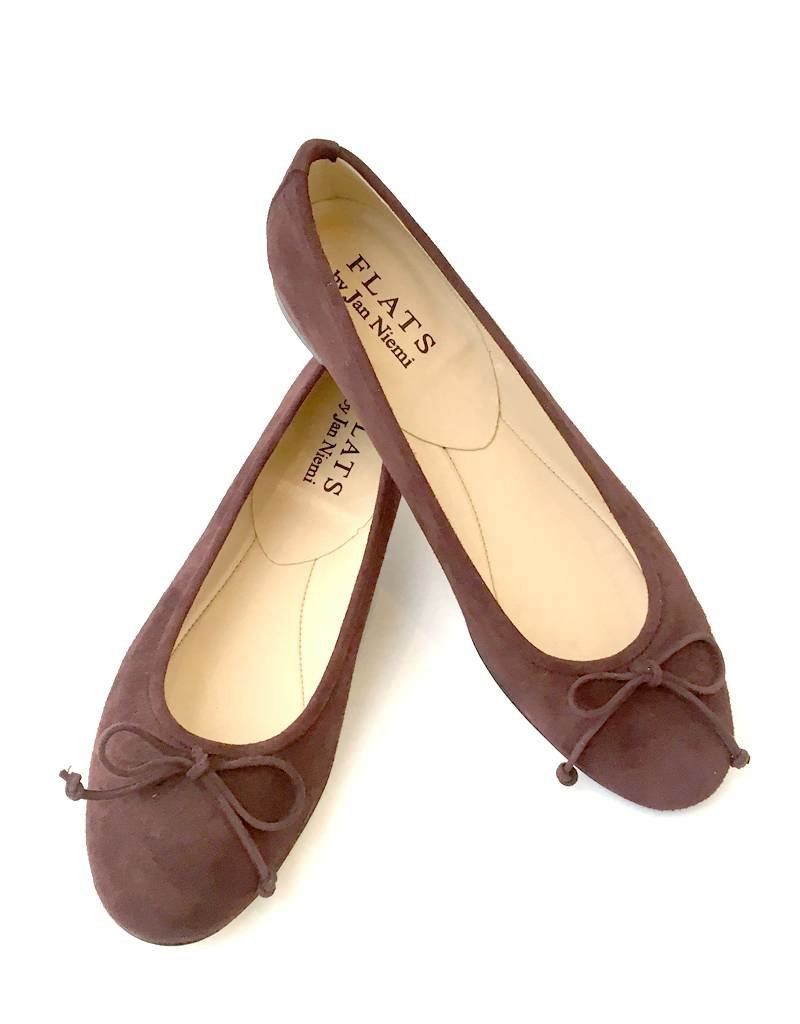 ALICE Ballerina- Suede Espresso