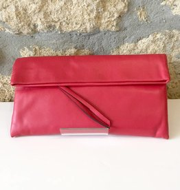 Gianni Chiarini GC-5235-SS16- Leather Clutch Cherry