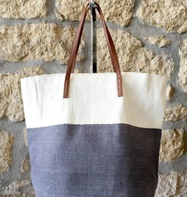 Alex Max Two Tone Metallic Tote Grey
