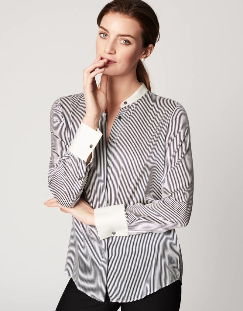 Winser London WL- Lightweight Silk Striped Shirt