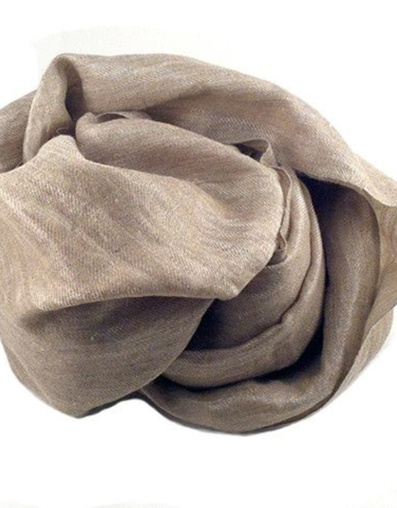 Flats Metallic Cashmere Scarf Taupe/Silver