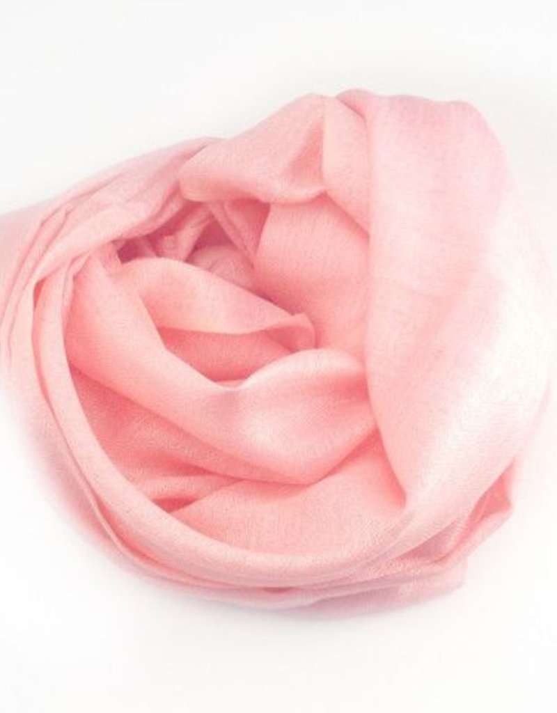Flats Fine Cashmere Scarf- Light Pink