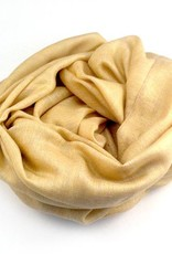 Flats Fine Cashmere Scarf- Gold