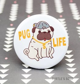 Turtle's soup Pug Gangsta Pin