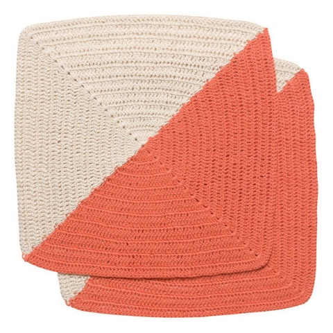 Now Designs Crochet Angle Sienna Dish Cloths