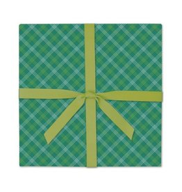 Page Stationery Green Tartan Gift Wrap