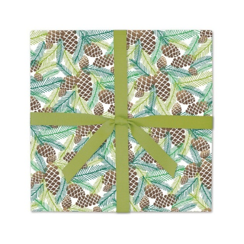 Page Stationery Pinecones Gift Wrap