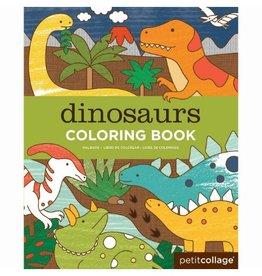 Petit Collage Dinosaur Coloring Book