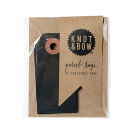 Knot and Bow Black Parcel Tags