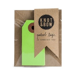 Knot and Bow Lt Green Parcel Tags