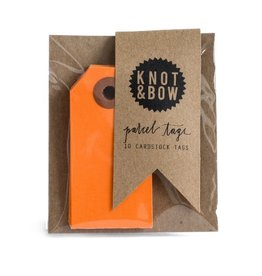Knot and Bow Orange Parcel Tags