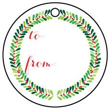Ann Page Wreath Gift Tags