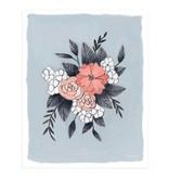 1Canoe2 Floral Art Print