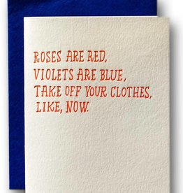 Ladyfingers Letterpress Roses are Red