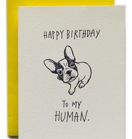 Ladyfingers Letterpress Happy Birthday Human