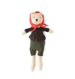 Hazel Village Nicholas Bear Cub Overalls/Walnut Sweater