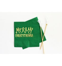 When It Rains Merry Everything Napkins, Green