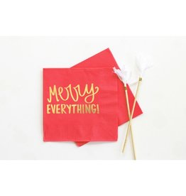 When It Rains Merry Everything Napkins, Red
