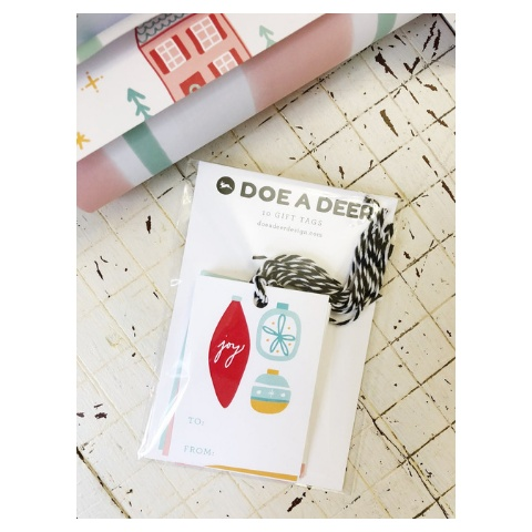 Doe A Deer Holiday Gift Tags