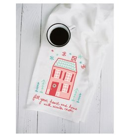 Doe A Deer Winter Cheer Tea Towel