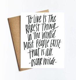 Live Love Studio Oscar Wilde Quote Card