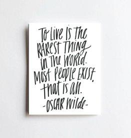 Live Love Studio Oscar Wilde Quote Print