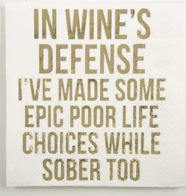 Deck the Halls In Wine's Defense Napkins