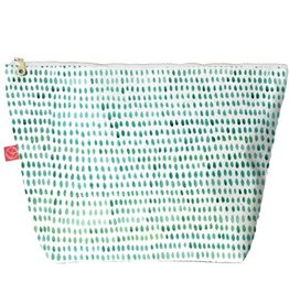 Casey D. Sibley Lg. Travel Pouch - Spots Green