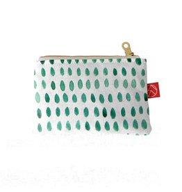 Casey D. Sibley Mini Pouch - Spots Green