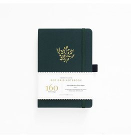Archer and Olive Deep Green Journal, Dot Grid