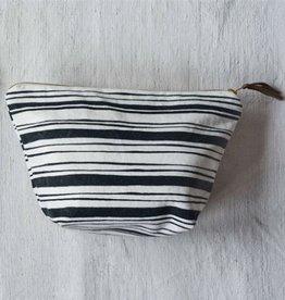 Creative Co-op Cotton Zip Pouch, Stripe