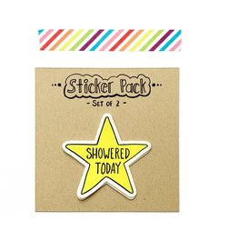 Yellow Daisy Paper Co. I Showered Sticker
