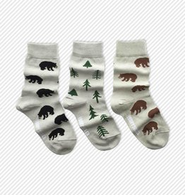 Friday Sock Co. Bear and Trees, Ages 5-7