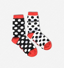 Friday Sock Co. Black & White Dots, Women's
