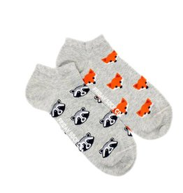 Friday Sock Co. Fox and Raccoon Ankle, Women's