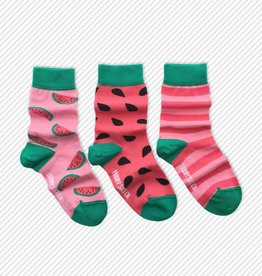Friday Sock Co. Watermelon, Ages 5-7