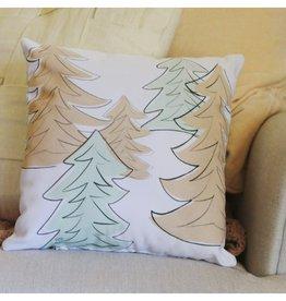 Lily & Val Retro Trees Pillow