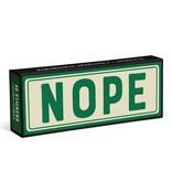 Knock Knock Sticker Statements: Nope