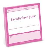 Knock Knock Sticky Note: Really Love Your