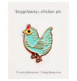 Boy Girl Party Chicken Enamel Pin