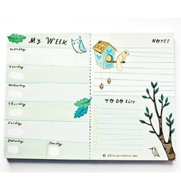 Boy Girl Party 2019 Green Weekly Planner