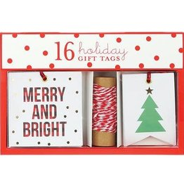 Graphique Merry & Bright Plaid Gift Tags