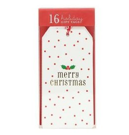 Graphique Merry Xmas Dots Gift Tags