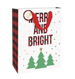 Graphique Merry & Bright Plaid Gift Bag