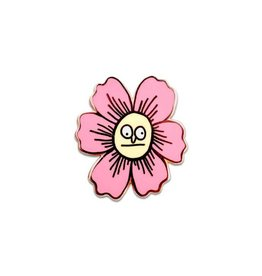 Frog and Toad Fleurdinand Flower Enamel Pin