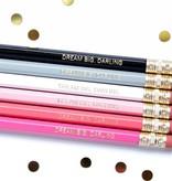 Taylor Elliott Dream Big Darling Pencils, Set/6