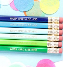 Taylor Elliott Work Hard Pencils, Set/6