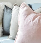 Madly Wish Linen Pillow, Slate