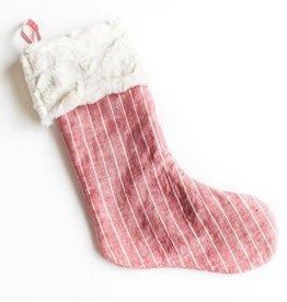 Madly Wish Crimson Stripe Stocking
