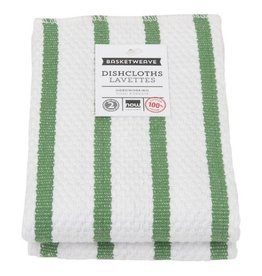 Now Designs Basketweave Verde Tea Towel